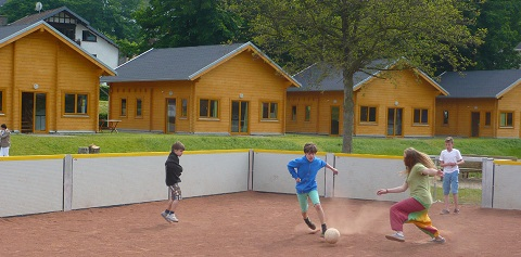 Blockhuser Soccerplatz